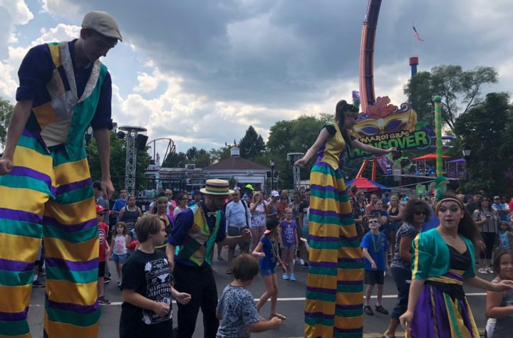 Six Flags Great America kicks off Mardi Gras Festival – Cortney Fries